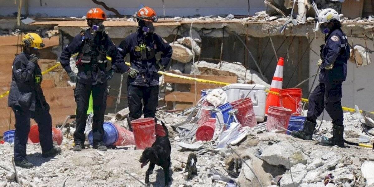 Alcaldesa de Miami firma orden de emergencia para demoler lo que queda de condominio colapsado