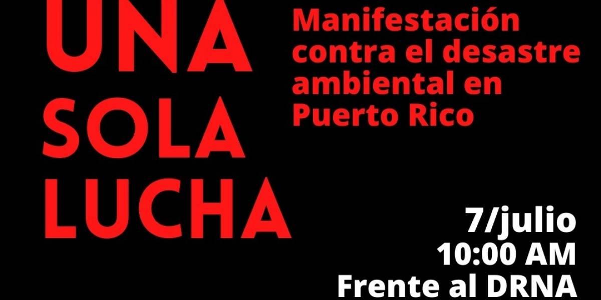 Convocan manifestación en apoyo a las luchas ambientales en la isla