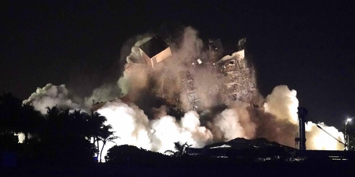 Demolición permite acceso a nuevos escombros en Florida