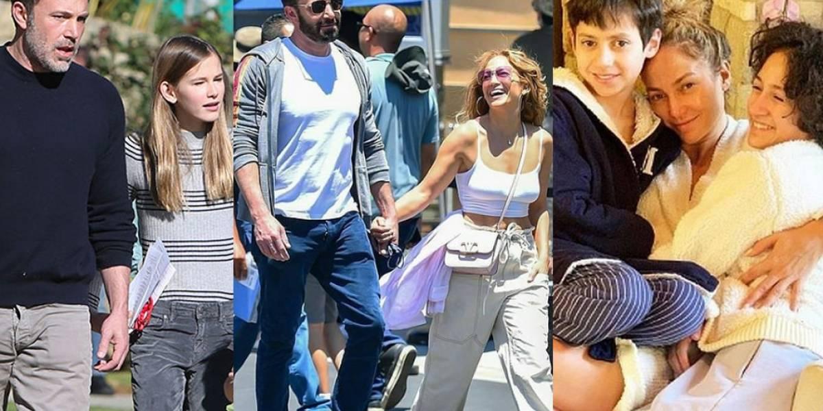 Hijos de Jennifer Lopez y Ben Affleck conviven por primera vez en paseo familiar