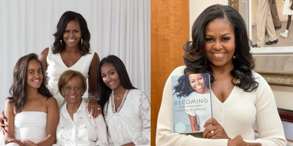 Michelle Obama felicita a su hija Malia y deja ver su gran parecido