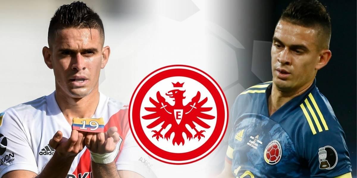 VIDEO | La presentación de Rafael Santos Borré en Eintracht Frankfurt de  Alemania y el apoyo a selección Colombia (JUGADORES SELECCIÓN COLOMBIA,  Mercado jugadores colombianos)