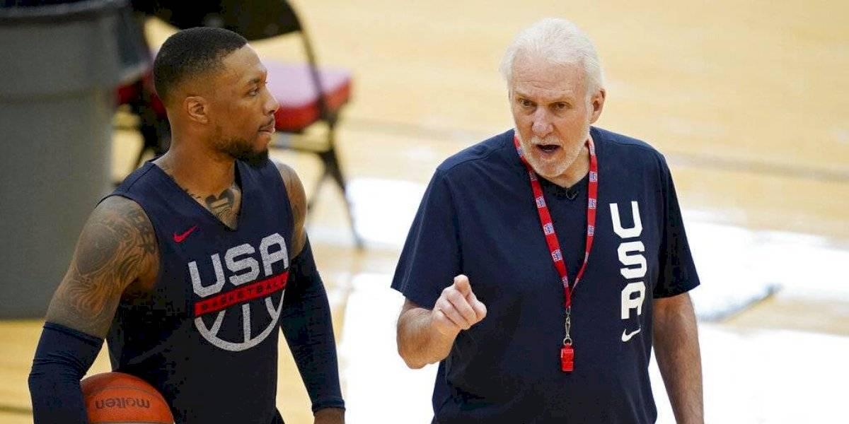 Popovich comienza prácticas con selección de básquet de Estados Unidos