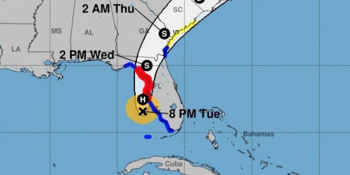 Elsa recupera categoría de huracán a su llegada a la Florida