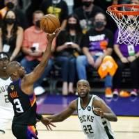 Suns se imponen 118-105 a Bucks en primer juego de la final NBA