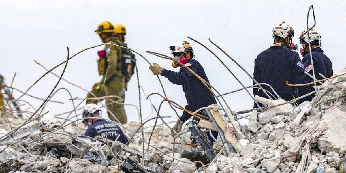 Hallan restos de otras 10 personas en edificio colapsado de Miami
