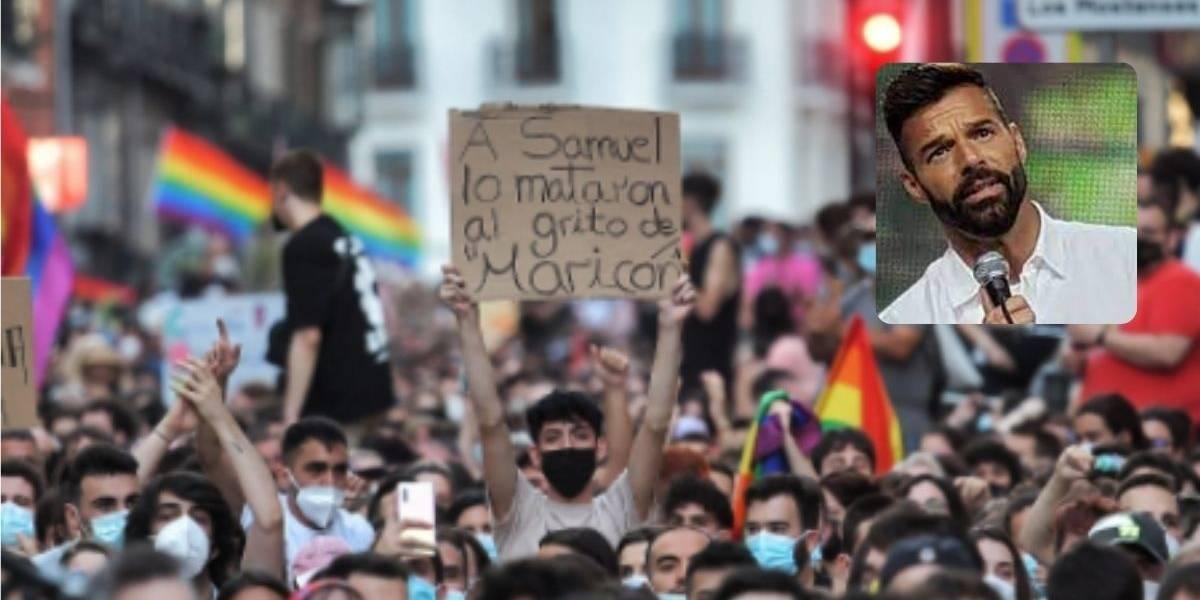 Ricky Martin condena brutal asesinato de Samuel Luiz, solo por ser gay