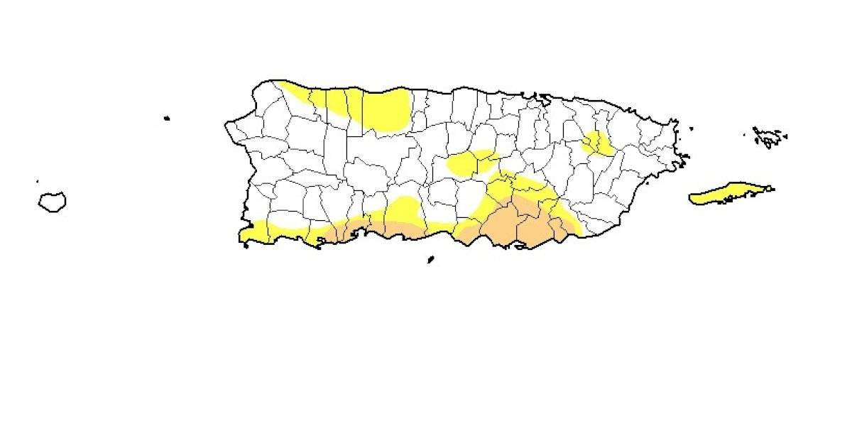 Leve reducción en el área bajo sequía en Puerto Rico