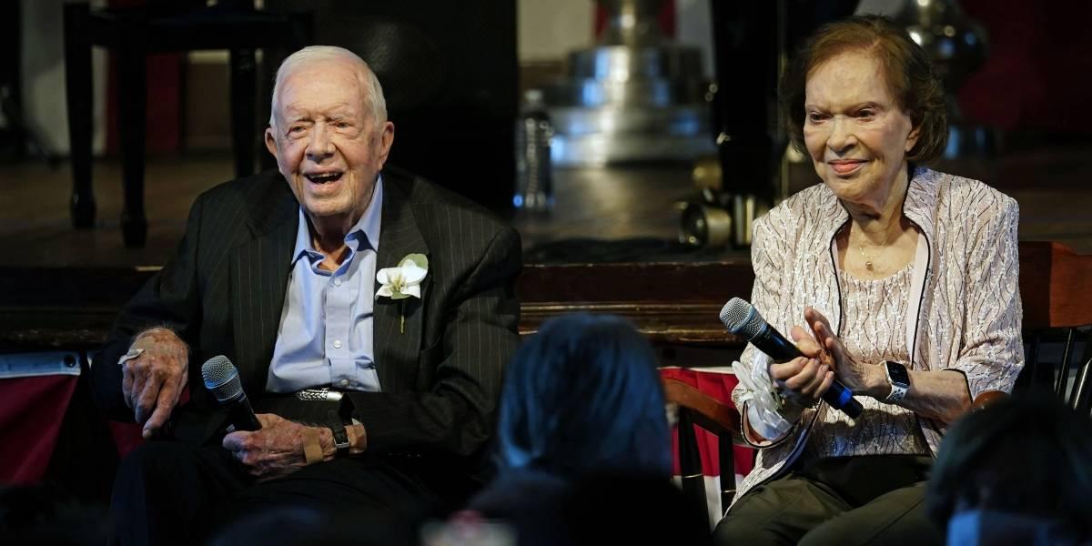 Expresidente Jimmy Carter celebra 75 años de matrimonio