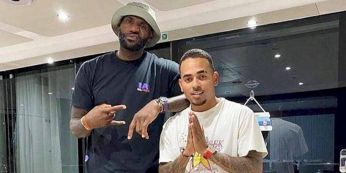 LeBron James está en Puerto Rico con Ozuna