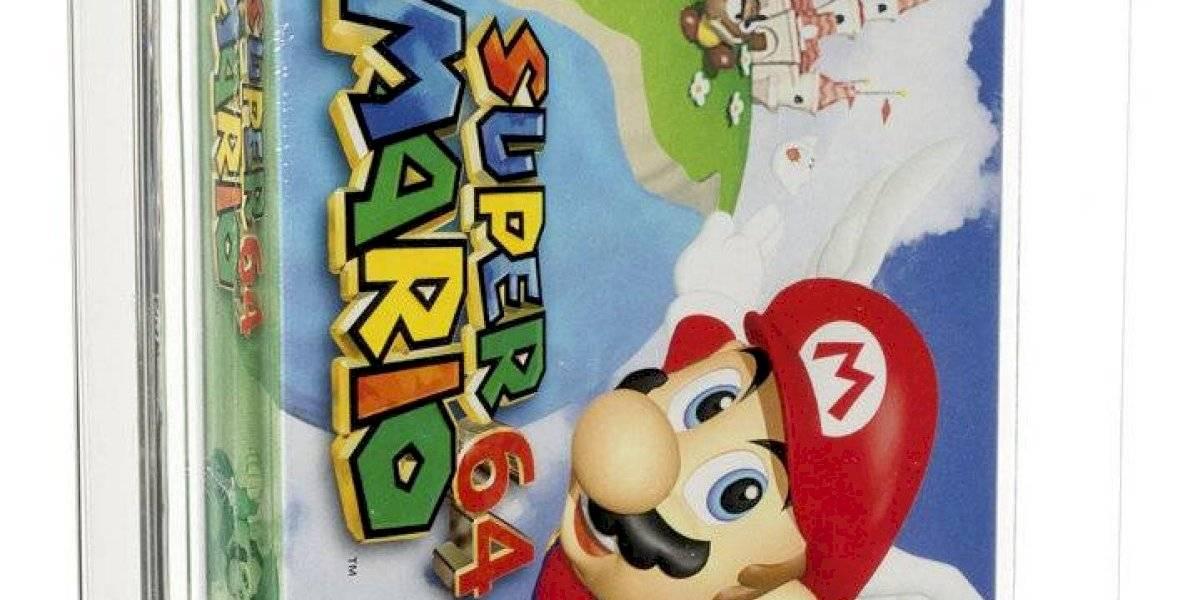 Subastan videojuego Super Mario 64 de 1996 en $1.56 millones