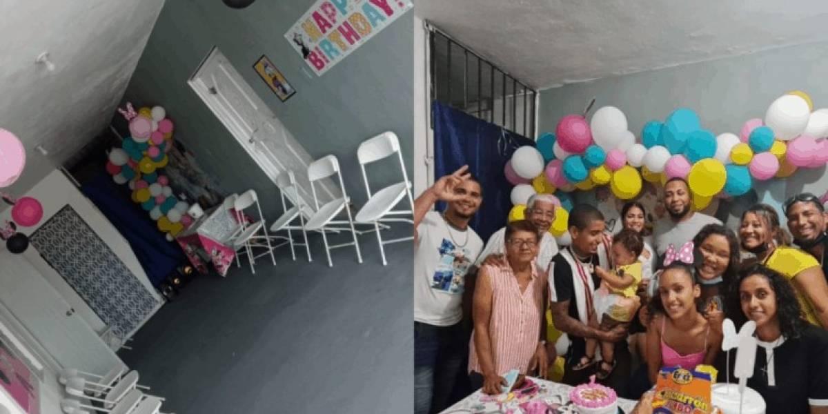 Personas de toda la isla fueron a celebrar el cumpleaños de una niña