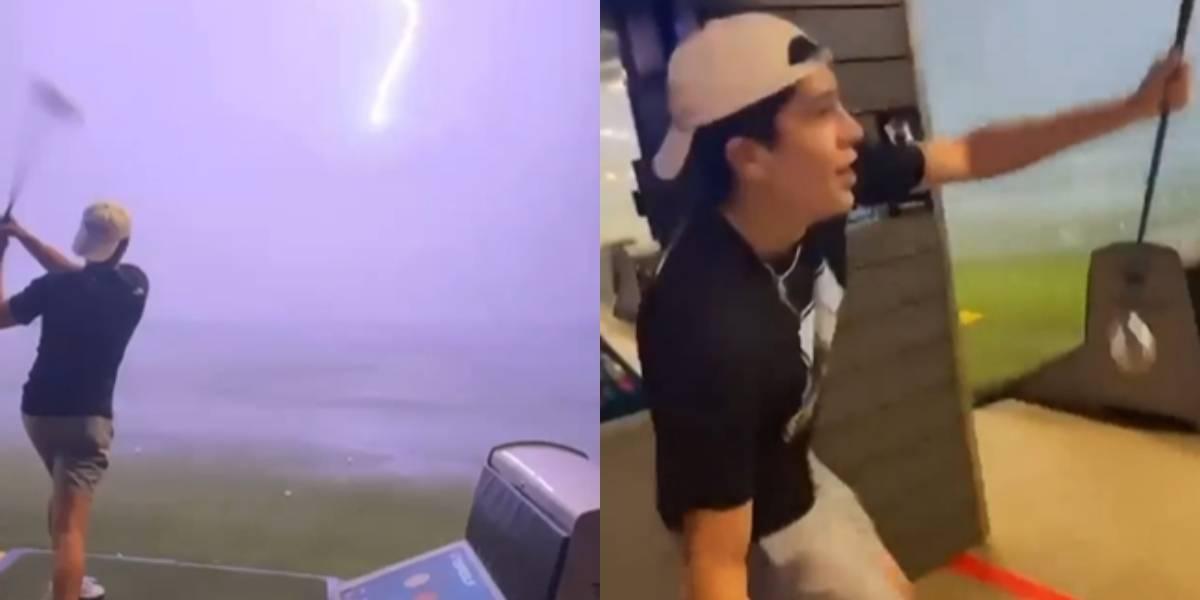 Impactante video: bola de golf es fulminada en el aire por un rayo y se vuelve viral