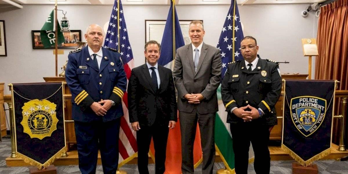 Policía de San Juan establece acuerdo de colaboración con NYPD