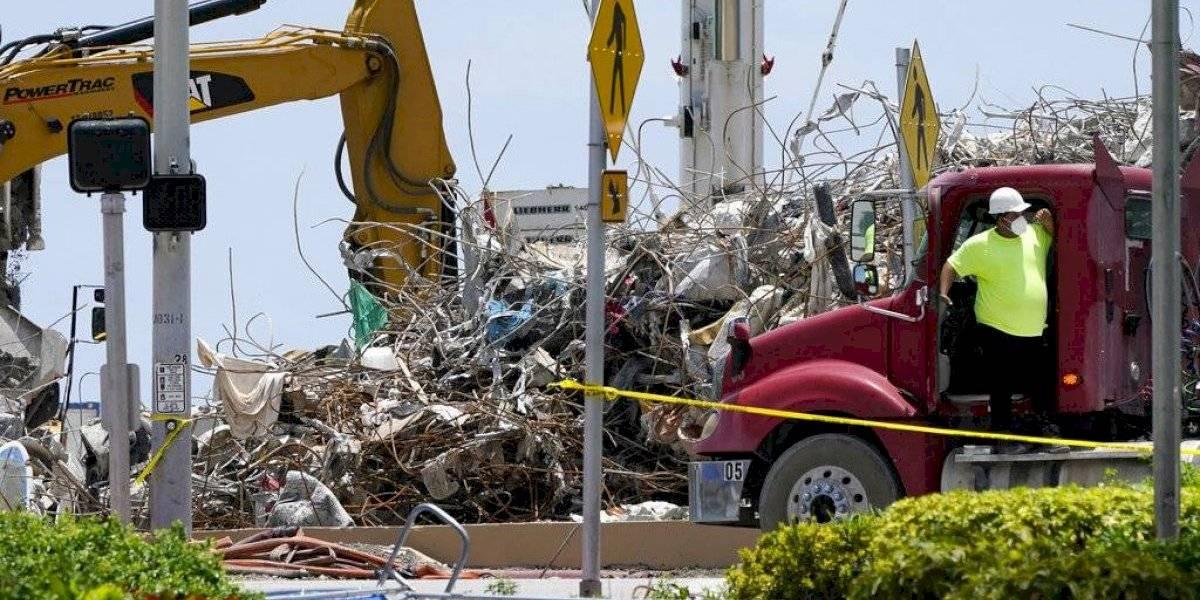 Cerca de terminar la recuperación de restos tras colapso de edificio en Miami