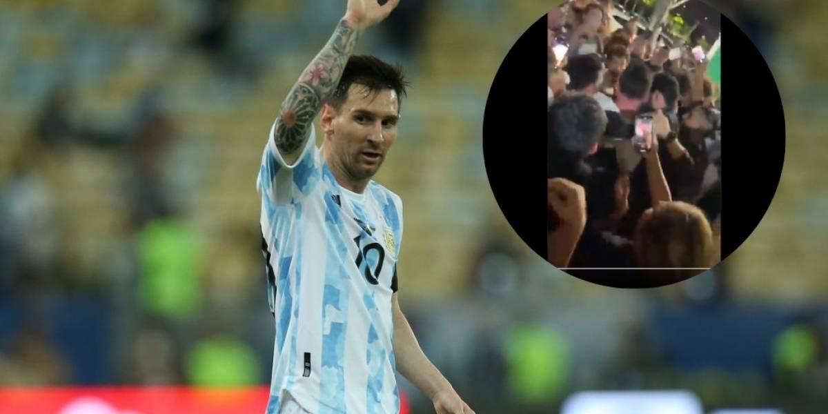 El revuelo que causó Messi en un restaurante en Miami