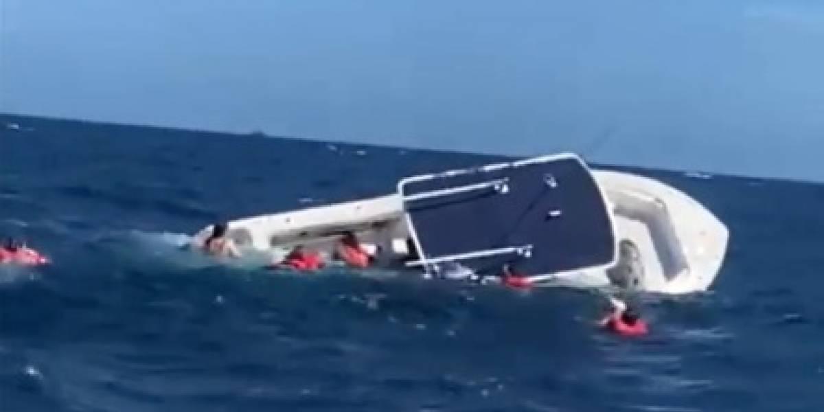 Rescatan tripulantes de bote que se hundió cerca de Culebra