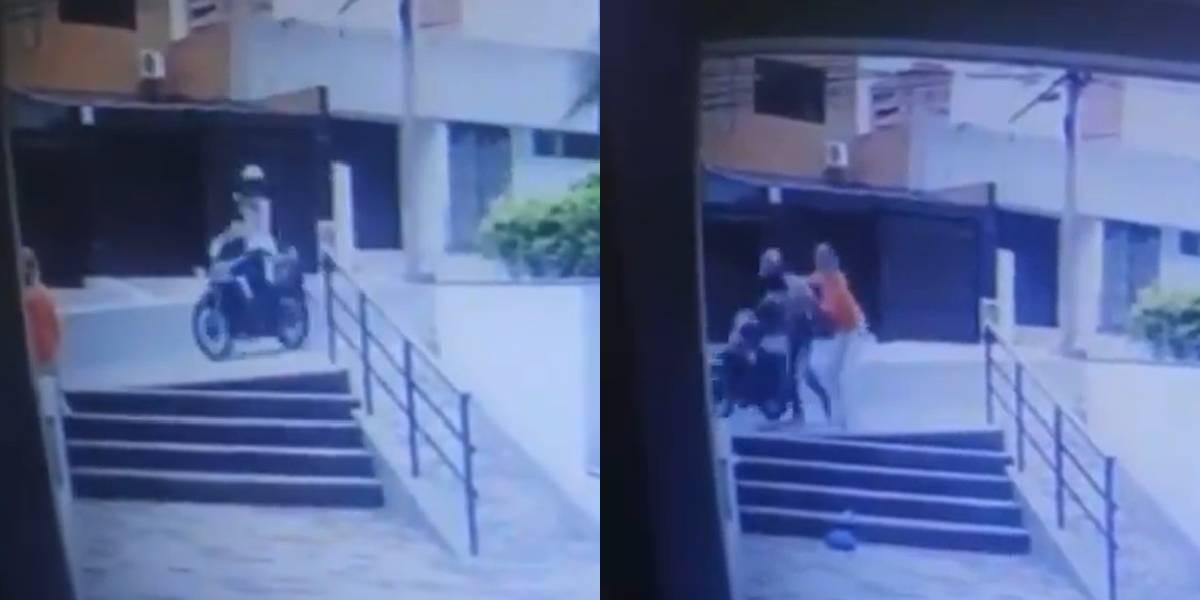 Impresionante video: Mujer se enfrentó a ladrón en plena calle