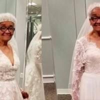 Señora de 94 años cumple sueño de vestirse de novia