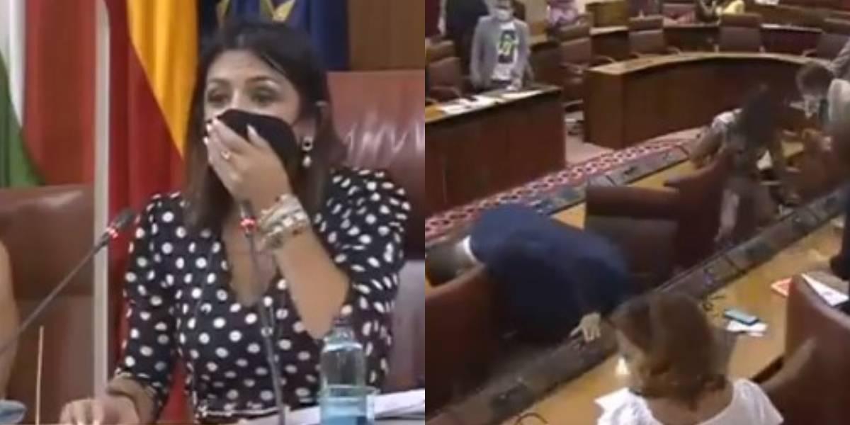 Ratón irrumpe en plena sesión parlamentaria en España y desata el caos