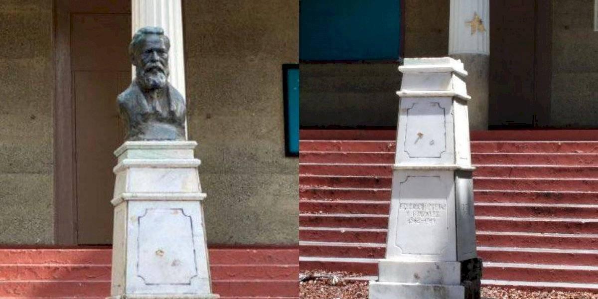 Se roban el busto de Federico Degetau de escuela en Ponce