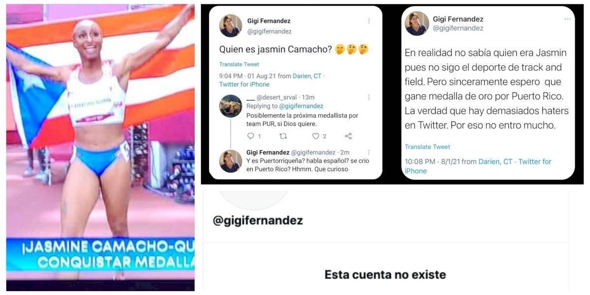 Gigi Fernández cierra cuenta de Twitter luego de cuestionar quién es Jasmine Camacho