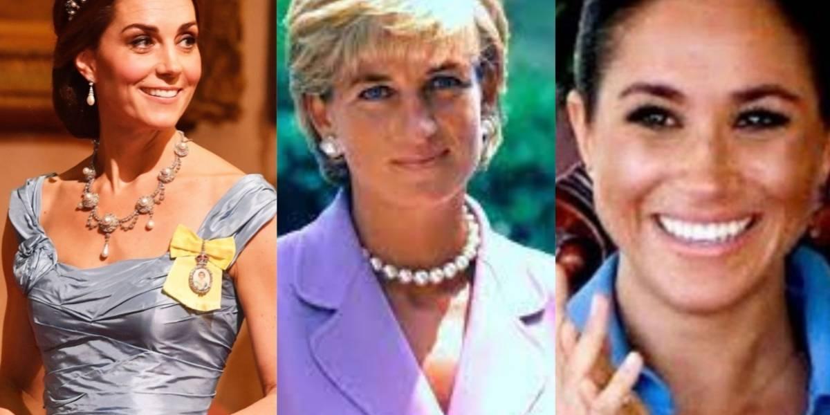 Estas son las joyas que Meghan Markley Kate Middleton heredaron de la princesa Diana