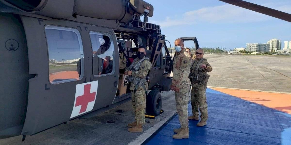 Soldados de la Guardia Nacional parten a Polonia