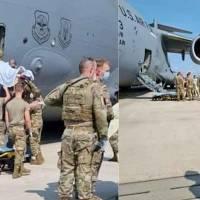 Una mujer afgana da a luz en un avión de evacuación de EE.UU.