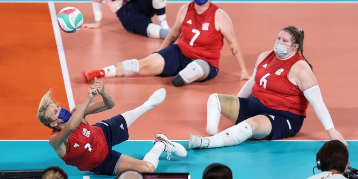 Lora Webster, la voleibolista paralímpica que compite embarazada en Tokio