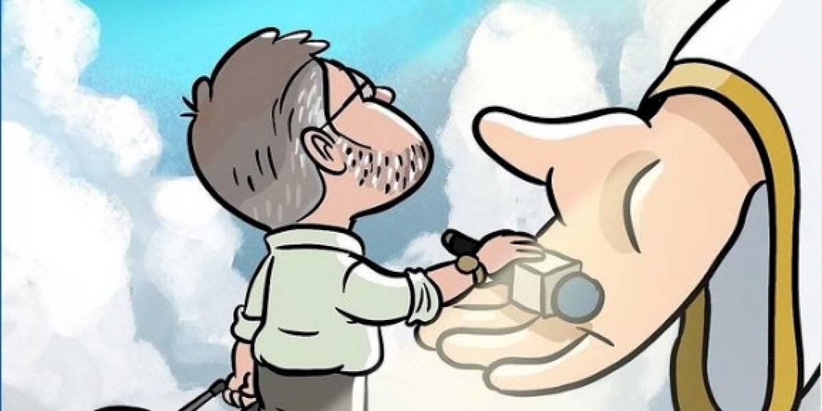 Ilustrador crea caricatura en honor a Efrén Arroyo
