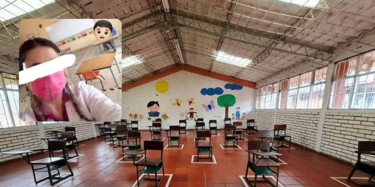 Profesora se burló del único estudiante que volvió a clases presenciales y generó indignación entre padres