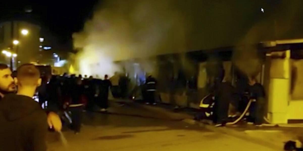 10 personas mueren en incendio en hospital COVID de Macedonia del Norte
