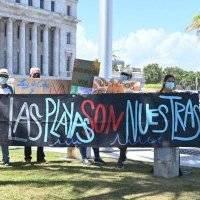 Manifestantantes en pro del ambiente llegan al Capitolio para exigirle la renuncia a Machargo