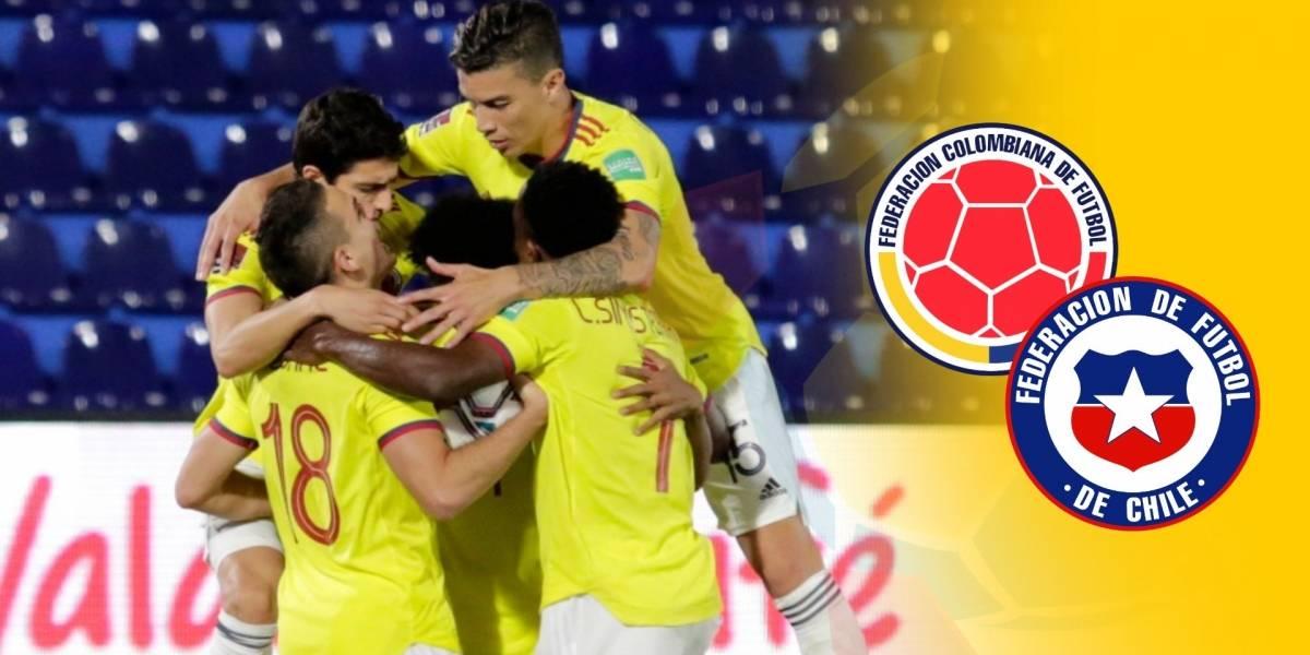 IMAGEN   Alineaciones titulares de Colombia VS Chile por ...
