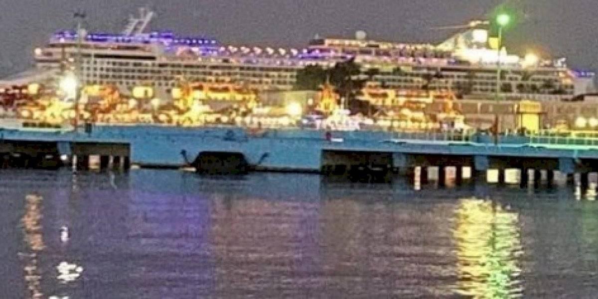 Llega primer crucero a San Juan con el 100 por ciento de pasajeros vacunados