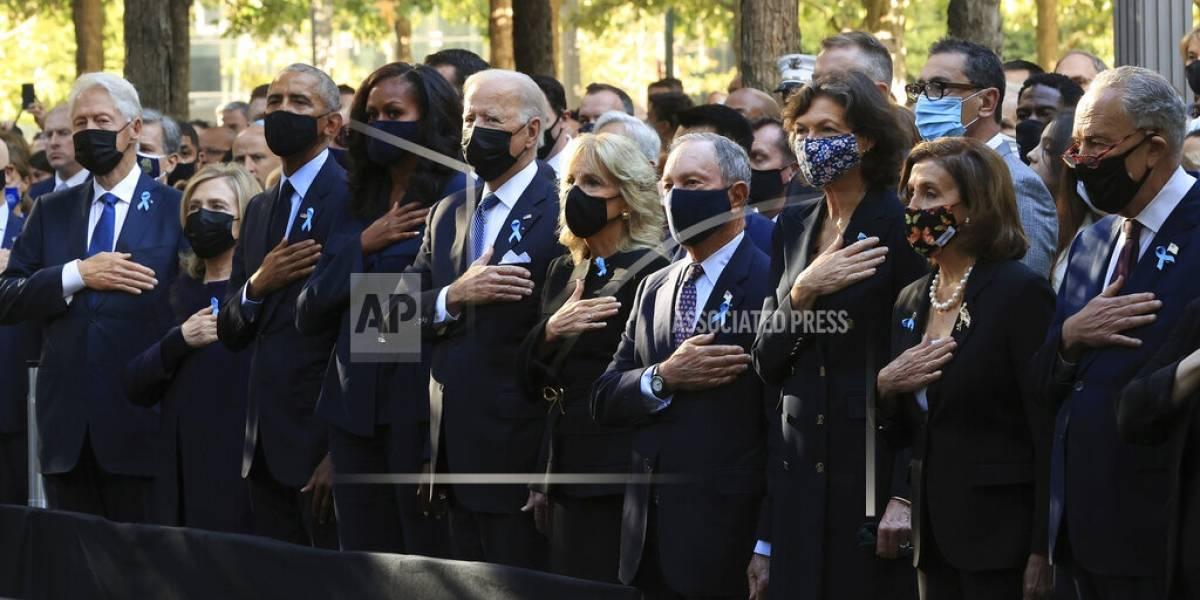Biden, Obama y Clinton marcan los 20 años del 11-S