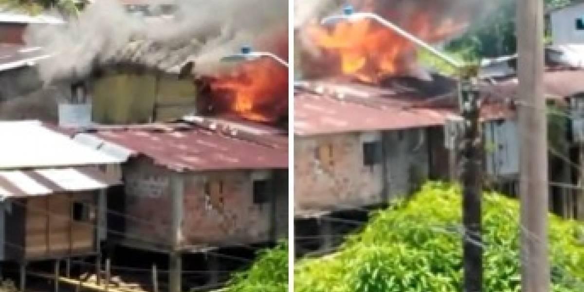 Niño de 3 años falleció en un incendio que se registró dentro de su casa en Colombia