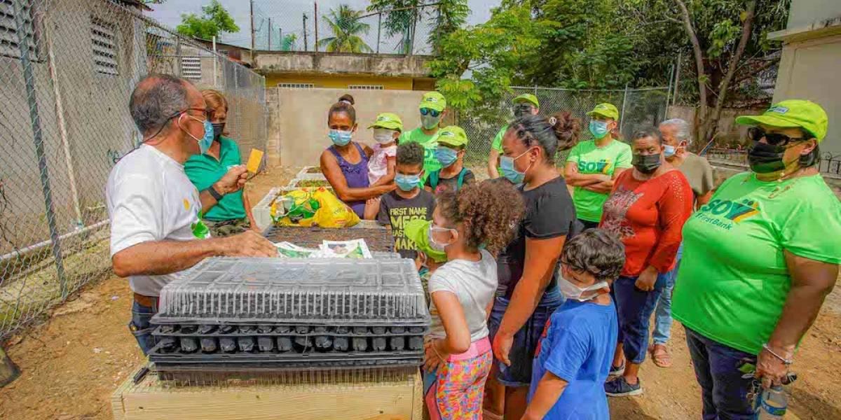 FirstBank desarrolla huerto urbano junto a residentes del Caño Martín Peña