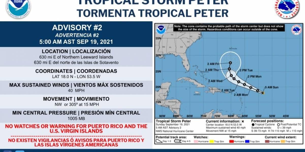 Se forma la tormenta tropical Peter