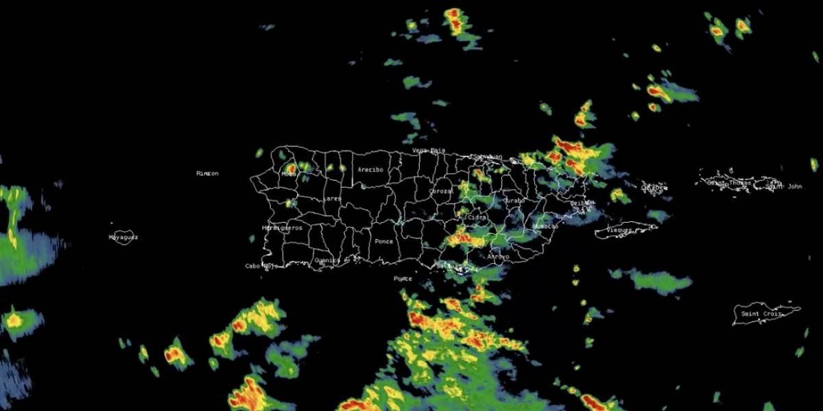 Tronadas con ráfagas de hasta 30 mph se mueven sobre Puerto Rico