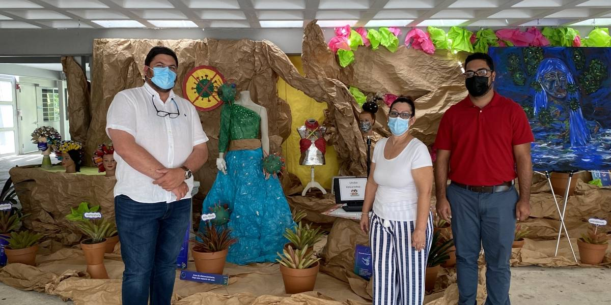 Estudiantes de Yauco envían un mensaje de prevención contra el COVID-19 a través del arte