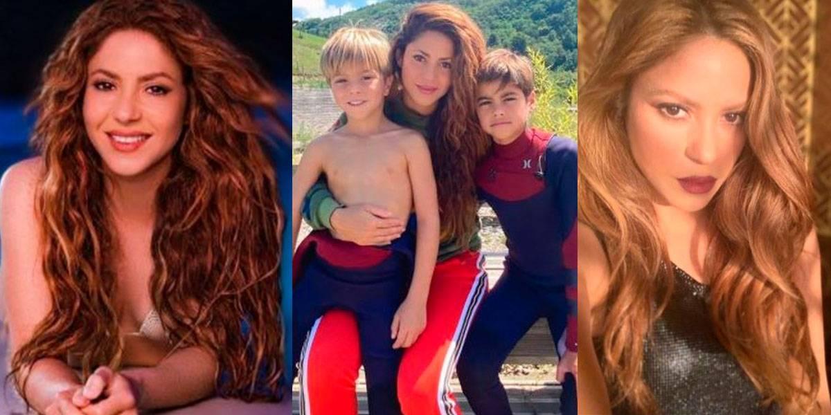 Shakira reaparece sin maquillaje y con un cómodo atuendo blanco