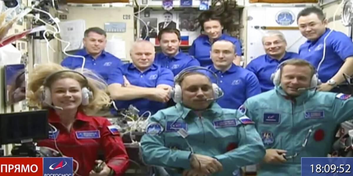 Actriz y director rusos parten a la Estación Espacial Internacional a filmar primera película en el espacio
