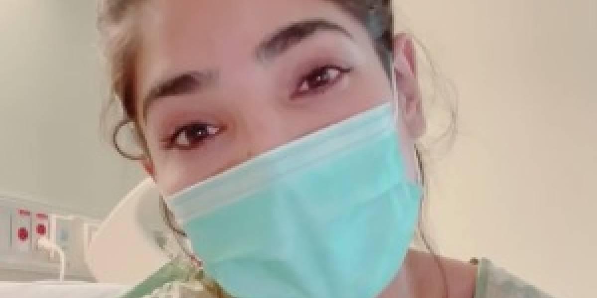 Alejandra Espinoza habla desde el hospital tras llegar con parálisis facial