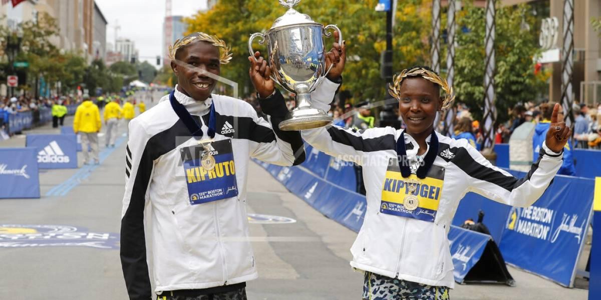 Kenia arrasa en el regreso del maratón de Boston