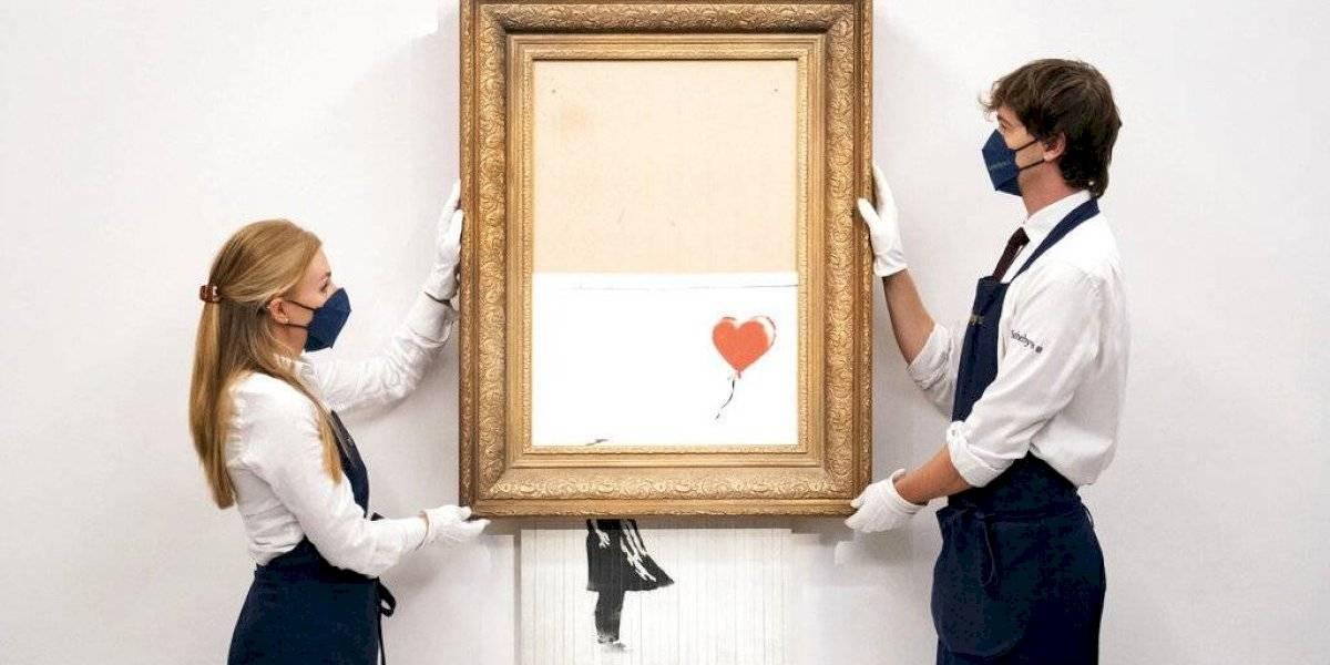Subastan Banksy triturado por $1.4 millones en Londres
