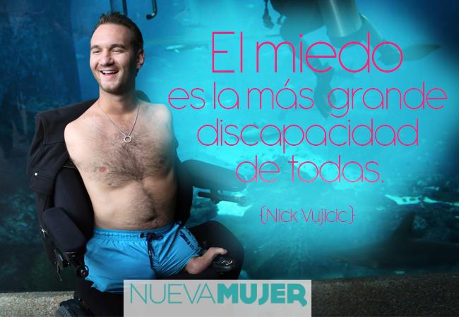 Fabuloso Frases motivacionales e inspiracionales de Nick Vujicic | Nueva Mujer YB39