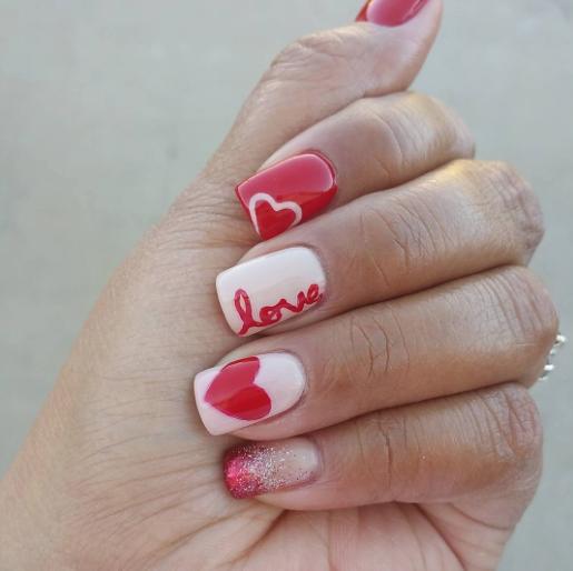 Nail Art 35 Fotos De Diseños De Uñas De Corazón Y Amor Para Decorar