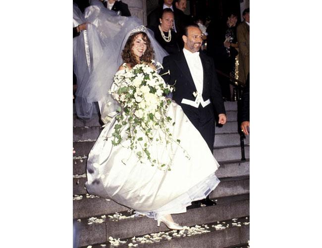 imágenes de famosas que se han casado usando un vestido de novia